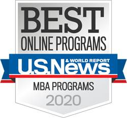 US News Online MBA Badge
