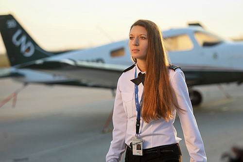 Alison Hunt on the tarmac