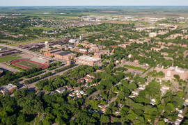 UND campus aerial photo