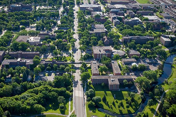 UND photo from above