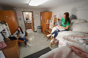 Residence Hall room from above