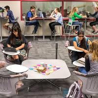 Honors study space in Columbia Hall
