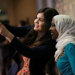 Students posed for selfie at Feast of Nations