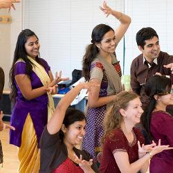 Students dance at Wellness Center