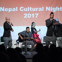 Band playing during Nepal night