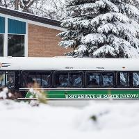 shuttle driving in the winter