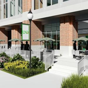 Memorial Union outdoor cafe