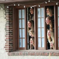 singing out of a sorority window