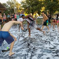 slip and slide hockey during rush week