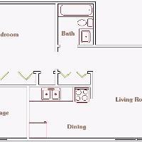 Berkeley Apartment one bedroom layout