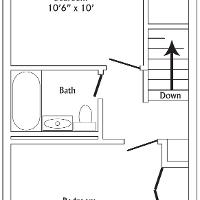 Townhouse second floor layout