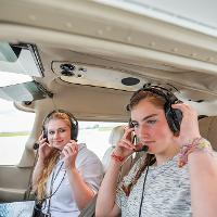 two women in cockpit