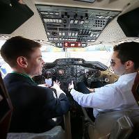 two men in cockpit