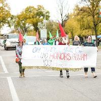 honors students at parade