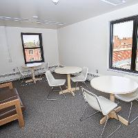 Bek has a large study room on the top floor with great views of the Bekyard and campus
