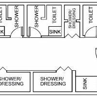 bathrooms in clusters