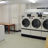 Walsh Hall laundry area