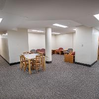 Walsh Hall Floor Lounge area for studying