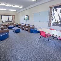 Walsh Hall penthouse study area
