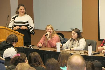UND students on a panel