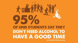 95% of UND students say they don't need alcohol to have a good time.