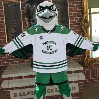 Fighting Hawk at the Ralph Engelstad Arena