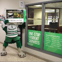 Fighting Hawk at One-Stop Student Services