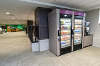 Picture of vending machines with coffee machine on left side