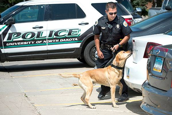 UND Officer Jose Solis and K9 Ben