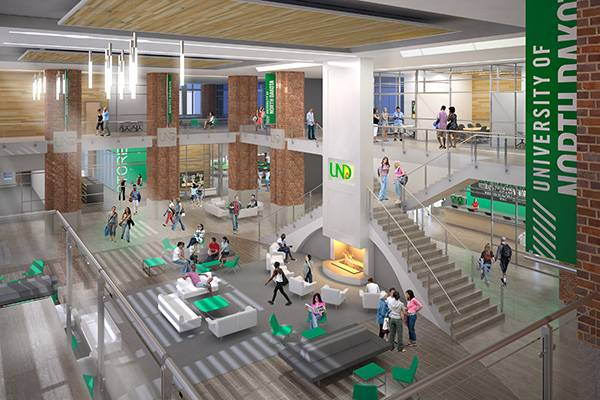 Interior rendering of new student union