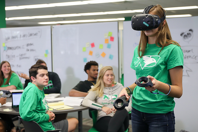 Virtual reality in the UND DigiComm lab
