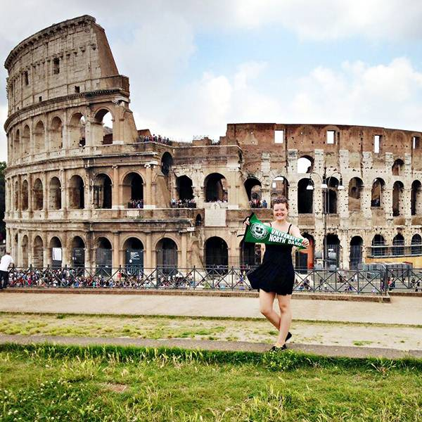 UND student on study abroad experience