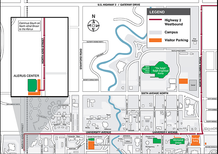 Directions and Parking   Commencement   University of North