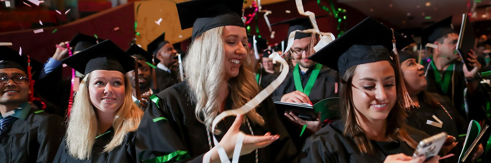 und students celebrates commencement