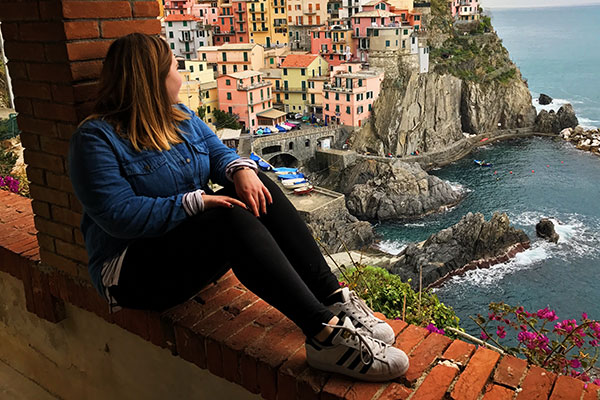 UND student in Italy