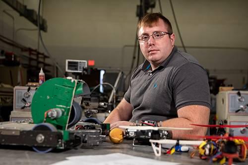 UND engineering student Colin Sabie
