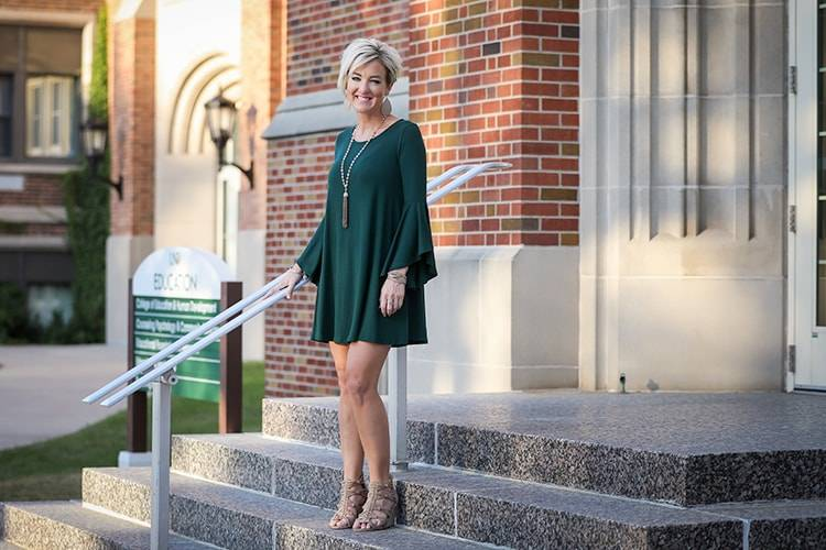 Kayla on UND steps