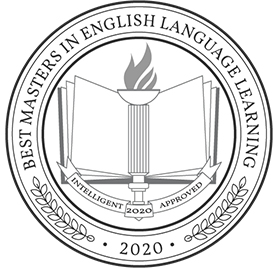 best online masters in english language badge