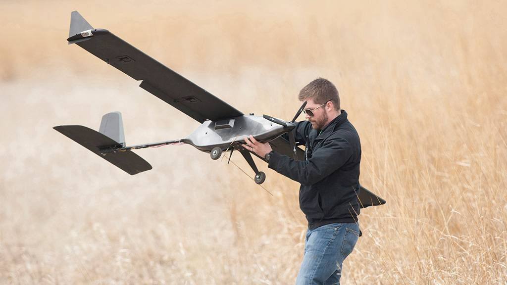 Magpie plane at the Northern Plains UAS Test site