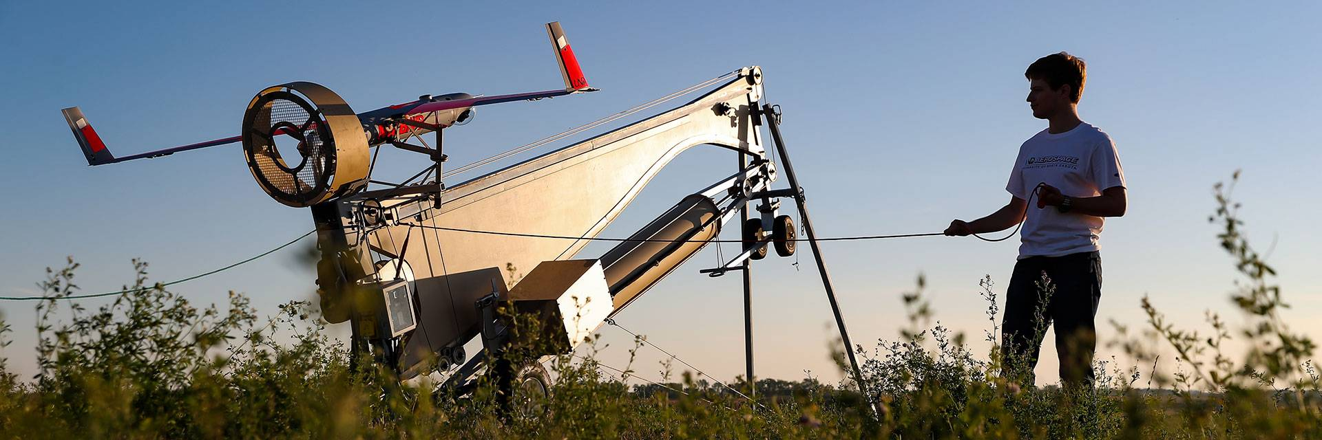 UAS launcher ready for takeoff