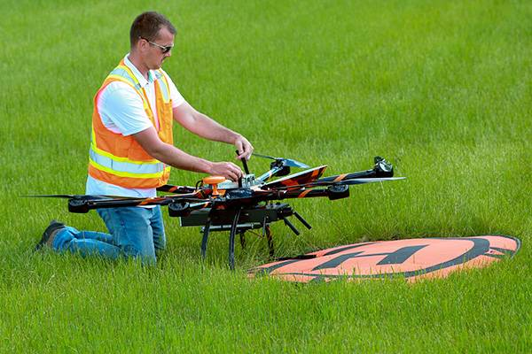 setting up uas on landing site