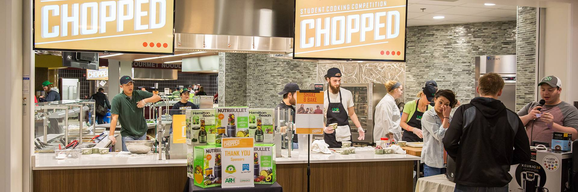 UND chopped competition tables