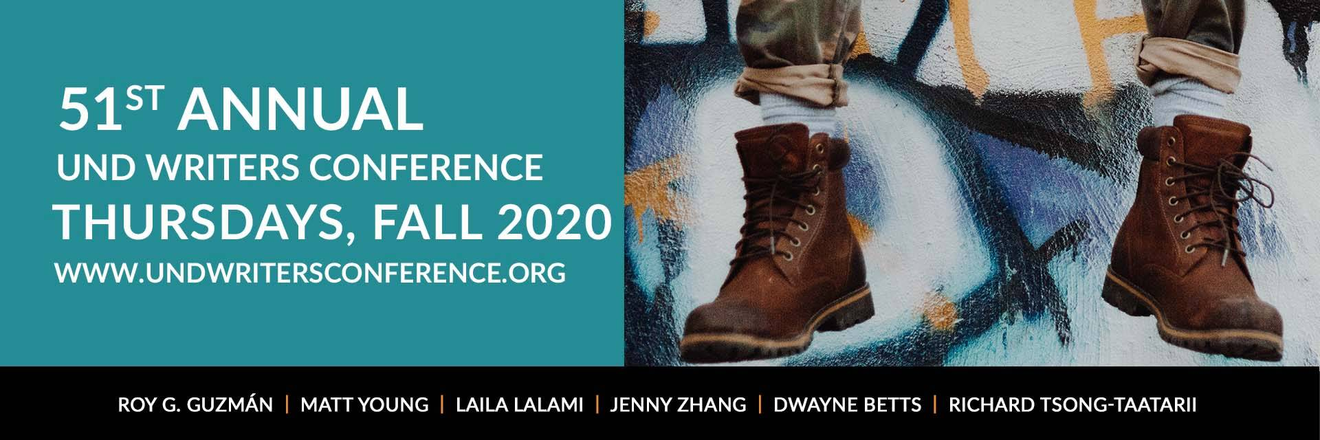 51st Annual UND Writers Conference, Online Thursdays Fall 2020